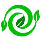 förnybar miljölogo Arkivfoto