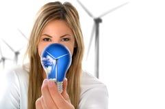 förnybar turbin för energi Royaltyfri Fotografi