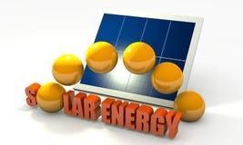 förnybart sol- för energipanel Arkivbild