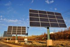 förnybart sol- för ström Arkivfoton
