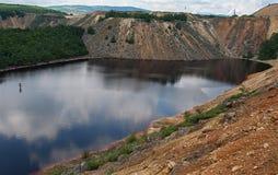 Förorenad sjö Royaltyfria Bilder