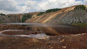 Förorenad sjö 3 Arkivbilder