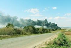 Förorening av naturen, faran för miljön Arkivfoto