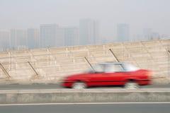 förorening för fabrik för luftbakgrund blå Arkivfoto
