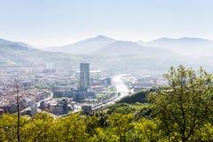 Förorening i Bilbao Arkivfoto