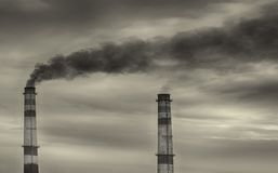 Förorening i fjärden Royaltyfria Foton