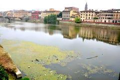 Förorening i Florence, Italien royaltyfria foton