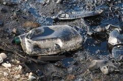 Förorening med olje- produkter royaltyfri bild