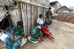 Föroreningar på den Hazaribagh garveriet av Bangladesh Arkivfoto