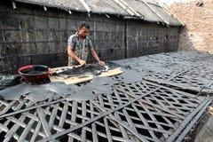 Föroreningar på den Hazaribagh garveriet av Bangladesh Royaltyfri Bild