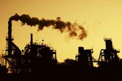 föroreningsilhouette Arkivfoton