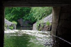 föroreningvatten Arkivbild