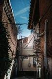 Förorts- grannskap royaltyfri fotografi