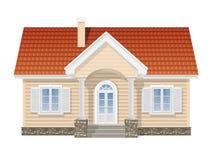 Förorts- hus, realistisk vektorillustration Royaltyfri Foto