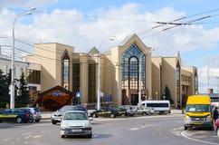 Förorts- järnvägsstation, Gomel, Vitryssland Arkivbild