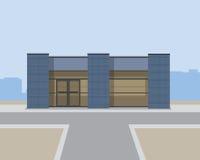 Förorts- kontorsbyggnad Fotografering för Bildbyråer