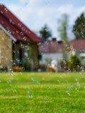 Förorts- såpbubblor Royaltyfri Bild