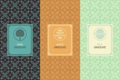 Förpacka för choklad vektor illustrationer