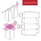 Förpacka för hängning med kroken Vektorillustration av att f?rpacka vektor illustrationer