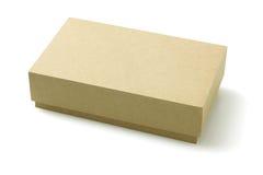 Förpackande ask för papp Arkivbild