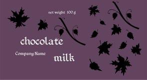Förpackande design för choklad Mall med sidakonturer