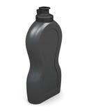 Förpackande flaska för tom svart på vit bakgrund beträffande 3d Arkivfoton