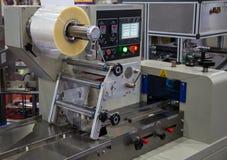 Förpackande maskin för mat arkivbilder
