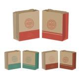 Förpackande packepåse för vektor som isoleras på vit bakgrund Royaltyfri Foto