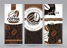 Förpackande uppsättning för kaffe vektor illustrationer