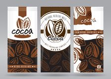 Förpackande uppsättning för kakao royaltyfri illustrationer