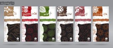 Förpackande uppsättning för krydda stock illustrationer
