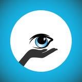 Förplikta för att donera ögonen efter död och för att stötta folket för att bära ut önskaen av ögondonation vektor illustrationer