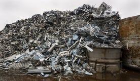 Förrådsplats av stålmaterial royaltyfri foto
