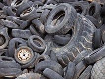 förrådsplatsgummihjul Royaltyfri Fotografi