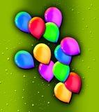 Förrymda ballonger arkivfoton