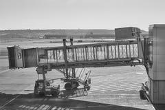 Förrymt område för flygplats med fingret för etikettstextil för luft set vektor för transport horisontal Arkivbild