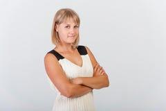 Försäkrad kvinna Arkivfoto