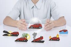 Försäkring för bil för skydd för affärsrepresentantmedel royaltyfri foto