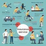 Försäkring Infographic Arkivbild