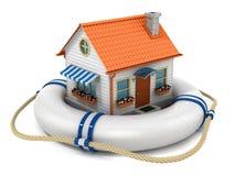 Försäkringhusbegrepp Arkivfoto