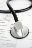 försäkringläkarundersökning royaltyfria foton