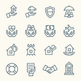 Försäkringsymboler vektor illustrationer