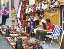 Försäljare av dockor Arkivbilder