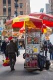 Försäljare för NYC-matvagn Royaltyfri Bild