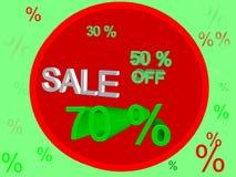 Försäljning 70% Royaltyfria Foton