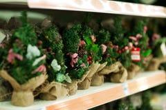 Försäljning av den oisolerade julgranen Royaltyfria Foton