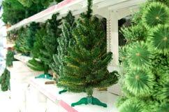 Försäljning av den oisolerade julgranen Arkivbilder