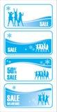 försäljning för 2 jul vektor illustrationer