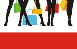 försäljning för 4 kläder Royaltyfri Fotografi