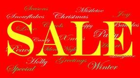 försäljning för annonsbanerjul Royaltyfria Foton